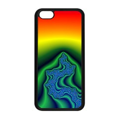 Fractal Wallpaper Water And Fire Apple Iphone 5c Seamless Case (black) by Amaryn4rt