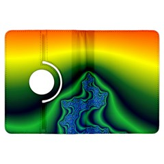 Fractal Wallpaper Water And Fire Kindle Fire Hdx Flip 360 Case by Amaryn4rt