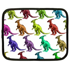 Multicolor Dinosaur Background Netbook Case (xl)  by Amaryn4rt