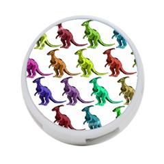 Multicolor Dinosaur Background 4 Port Usb Hub (two Sides)  by Amaryn4rt