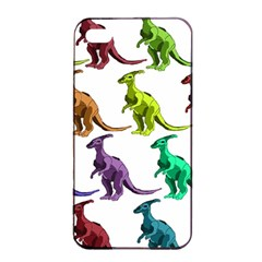 Multicolor Dinosaur Background Apple Iphone 4/4s Seamless Case (black) by Amaryn4rt