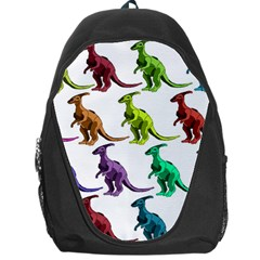 Multicolor Dinosaur Background Backpack Bag by Amaryn4rt