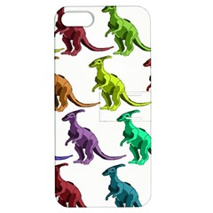 Multicolor Dinosaur Background Apple Iphone 5 Hardshell Case With Stand by Amaryn4rt