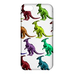 Multicolor Dinosaur Background Apple Iphone 5c Hardshell Case by Amaryn4rt