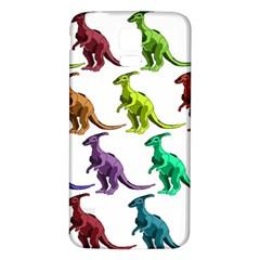 Multicolor Dinosaur Background Samsung Galaxy S5 Back Case (white) by Amaryn4rt