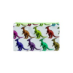 Multicolor Dinosaur Background Cosmetic Bag (xs) by Amaryn4rt