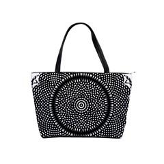 Black Lace Kaleidoscope On White Shoulder Handbags by Amaryn4rt