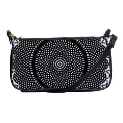 Black Lace Kaleidoscope On White Shoulder Clutch Bags by Amaryn4rt