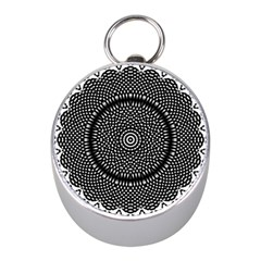 Black Lace Kaleidoscope On White Mini Silver Compasses by Amaryn4rt