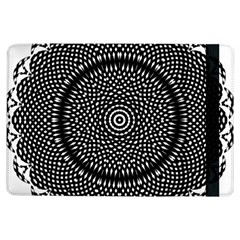 Black Lace Kaleidoscope On White Ipad Air Flip by Amaryn4rt