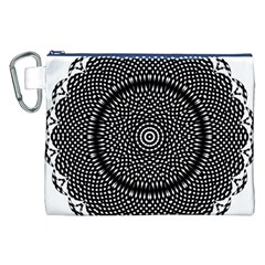 Black Lace Kaleidoscope On White Canvas Cosmetic Bag (xxl) by Amaryn4rt