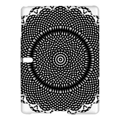 Black Lace Kaleidoscope On White Samsung Galaxy Tab S (10 5 ) Hardshell Case  by Amaryn4rt