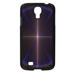 Color Fractal Symmetric Blue Circle Samsung Galaxy S4 I9500/ I9505 Case (black) by Amaryn4rt