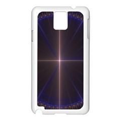 Color Fractal Symmetric Blue Circle Samsung Galaxy Note 3 N9005 Case (white) by Amaryn4rt