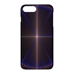 Color Fractal Symmetric Blue Circle Apple Iphone 7 Plus Hardshell Case by Amaryn4rt