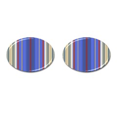 Colorful Stripes Background Cufflinks (oval) by Amaryn4rt