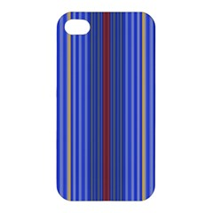 Colorful Stripes Background Apple Iphone 4/4s Premium Hardshell Case by Amaryn4rt