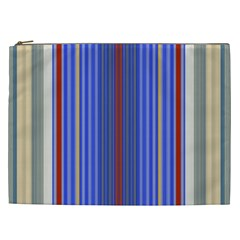 Colorful Stripes Background Cosmetic Bag (xxl)  by Amaryn4rt