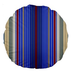Colorful Stripes Background Large 18  Premium Round Cushions by Amaryn4rt