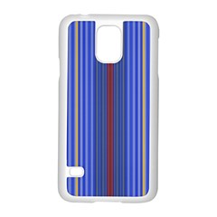 Colorful Stripes Background Samsung Galaxy S5 Case (white) by Amaryn4rt