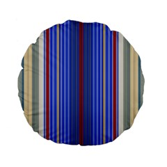 Colorful Stripes Background Standard 15  Premium Flano Round Cushions by Amaryn4rt