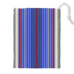 Colorful Stripes Background Drawstring Pouches (xxl) by Amaryn4rt
