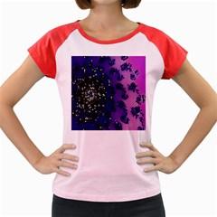 Blue Digital Fractal Women s Cap Sleeve T Shirt