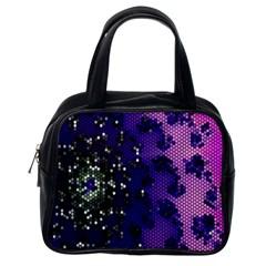 Blue Digital Fractal Classic Handbags (one Side) by Amaryn4rt