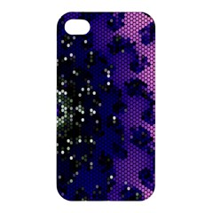 Blue Digital Fractal Apple Iphone 4/4s Premium Hardshell Case by Amaryn4rt