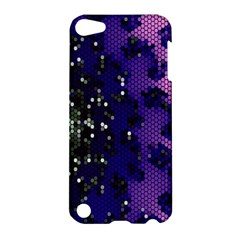 Blue Digital Fractal Apple Ipod Touch 5 Hardshell Case by Amaryn4rt