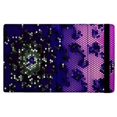 Blue Digital Fractal Apple Ipad 3/4 Flip Case by Amaryn4rt