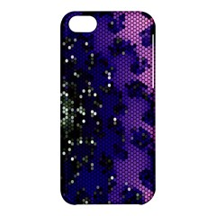 Blue Digital Fractal Apple Iphone 5c Hardshell Case by Amaryn4rt