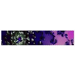 Blue Digital Fractal Flano Scarf (small) by Amaryn4rt