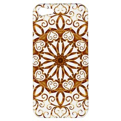 Golden Filigree Flake On White Apple Iphone 5 Hardshell Case by Amaryn4rt