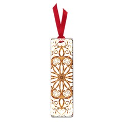 Golden Filigree Flake On White Small Book Marks by Amaryn4rt