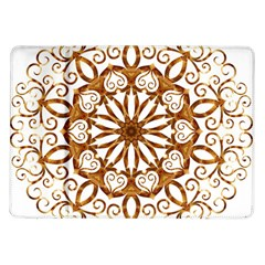 Golden Filigree Flake On White Samsung Galaxy Tab 10 1  P7500 Flip Case by Amaryn4rt