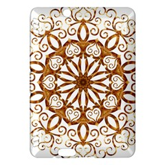 Golden Filigree Flake On White Kindle Fire Hdx Hardshell Case by Amaryn4rt