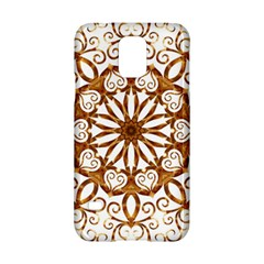 Golden Filigree Flake On White Samsung Galaxy S5 Hardshell Case  by Amaryn4rt
