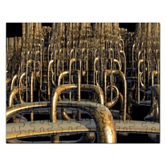 Fractal Image Of Copper Pipes Rectangular Jigsaw Puzzl by Amaryn4rt