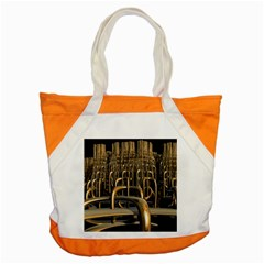 Fractal Image Of Copper Pipes Accent Tote Bag by Amaryn4rt