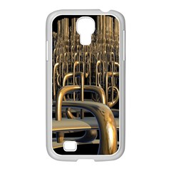Fractal Image Of Copper Pipes Samsung Galaxy S4 I9500/ I9505 Case (white) by Amaryn4rt