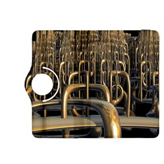 Fractal Image Of Copper Pipes Kindle Fire Hdx 8 9  Flip 360 Case by Amaryn4rt