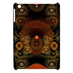 Fractal Yellow Design On Black Apple Ipad Mini Hardshell Case by Amaryn4rt