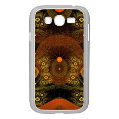 Fractal Yellow Design On Black Samsung Galaxy Grand Duos I9082 Case (white) by Amaryn4rt