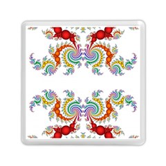 Fractal Kaleidoscope Of A Dragon Head Memory Card Reader (square)  by Amaryn4rt