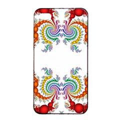 Fractal Kaleidoscope Of A Dragon Head Apple Iphone 4/4s Seamless Case (black) by Amaryn4rt