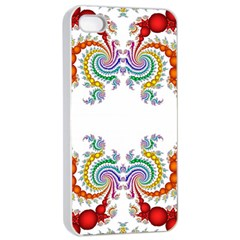 Fractal Kaleidoscope Of A Dragon Head Apple Iphone 4/4s Seamless Case (white) by Amaryn4rt
