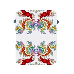 Fractal Kaleidoscope Of A Dragon Head Apple Ipad 2/3/4 Protective Soft Cases by Amaryn4rt