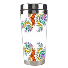 Fractal Kaleidoscope Of A Dragon Head Stainless Steel Travel Tumblers by Amaryn4rt