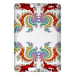 Fractal Kaleidoscope Of A Dragon Head Amazon Kindle Fire Hd (2013) Hardshell Case by Amaryn4rt